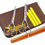 CANDURE® - Set Coiffure en Acier Inoxydable - ciseaux de coiffure, 5.5,Professionnels Ciseaux - Ciseaux de Coiffure + Ciseaux Sculpteurs Professionnels - 13,27 TOP 2 image 0 produit