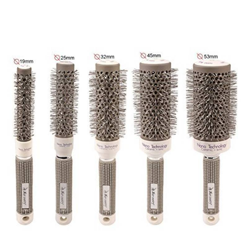 CkeyiN Nano thermique céramique ionique - Brosse Cheveux Ronde - 5 tailles(19mm / 25mm / 32mm / 45mm / 53mm) - Poignée doux et anti-dérapant Pour Séchage, Coiff TOP 11 image 0 produit