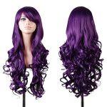Cozyswan 80cm avec spirale perruque Livraison gratuite Big Cheveux ondulés résistant à la chaleur Violet Longue Bouclée Costume Cosplay Perruque de la marque C TOP 5 image 0 produit