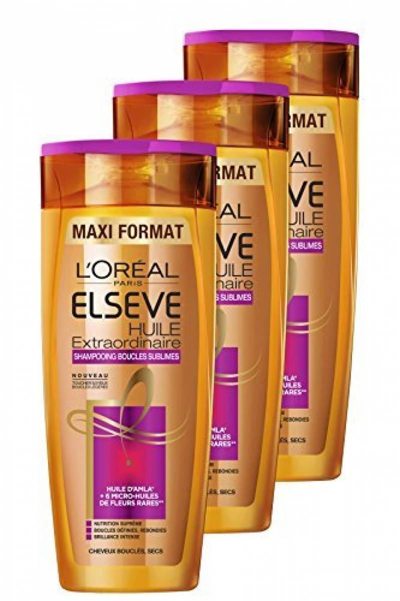Elsève Shampoing Huile Extraordinaire Boucle Sublime 400 ml - Lot de 3 de la marque Elsève TOP 1 image 0 produit