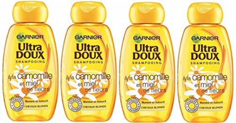Garnier - Ultra DOUX À la Camomille et Miel de Fleurs - Shampooing 400ML Cheveux Blonds - Lot de 4 de la marque Garnier TOP 2 image 0 produit