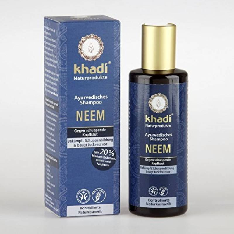 KHADI Shampooing ayurvédique neem Anti-Pellicules - 210ml de la marque Khadi TOP 10 image 0 produit
