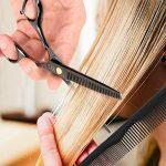 """KYG Set 2 Ciseaux Coiffure 6.0"""" Professionnels et de Coupe de Cheveux Amincissement en Acier Inoxydable Désépaissir Effiler Sculpteur + Peigne De Coiffure avec TOP 3 image 2 produit"""