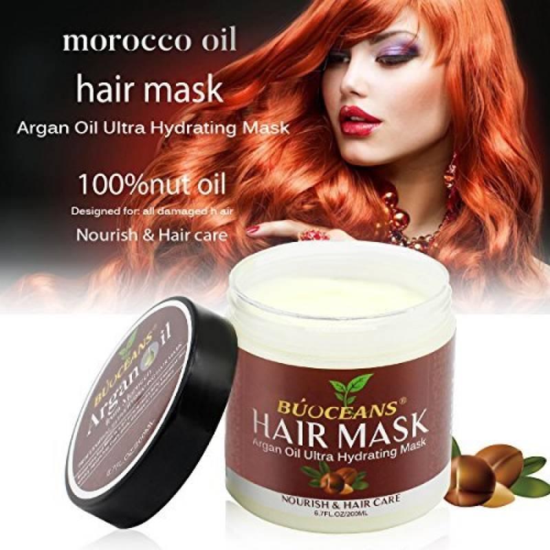 Masque Cheveux d'Huile d'Argan -250ml - Après-Shampoing - 100% Huile de Jojoba & Kératine, Répare les Cheveux Secs, Abîmés ou Colorés, Adapté à Tous Typ TOP 8 image 0 produit