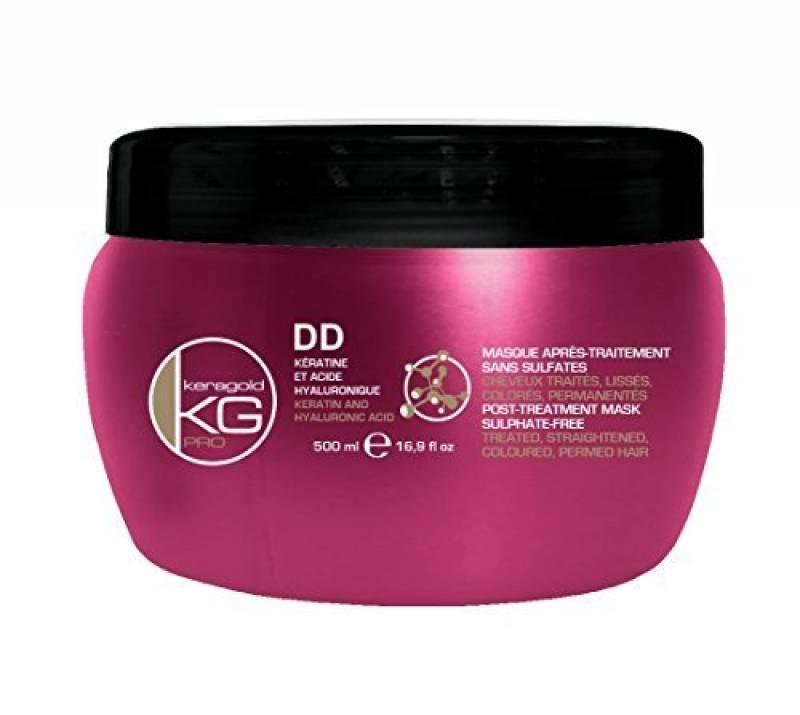 Masque SANS SULFATES à la KERATINE et ACIDE HYALURONIQUE - KERAGOLD Pro - DD kératine - 500ml de la marque keragoldpro TOP 6 image 0 produit