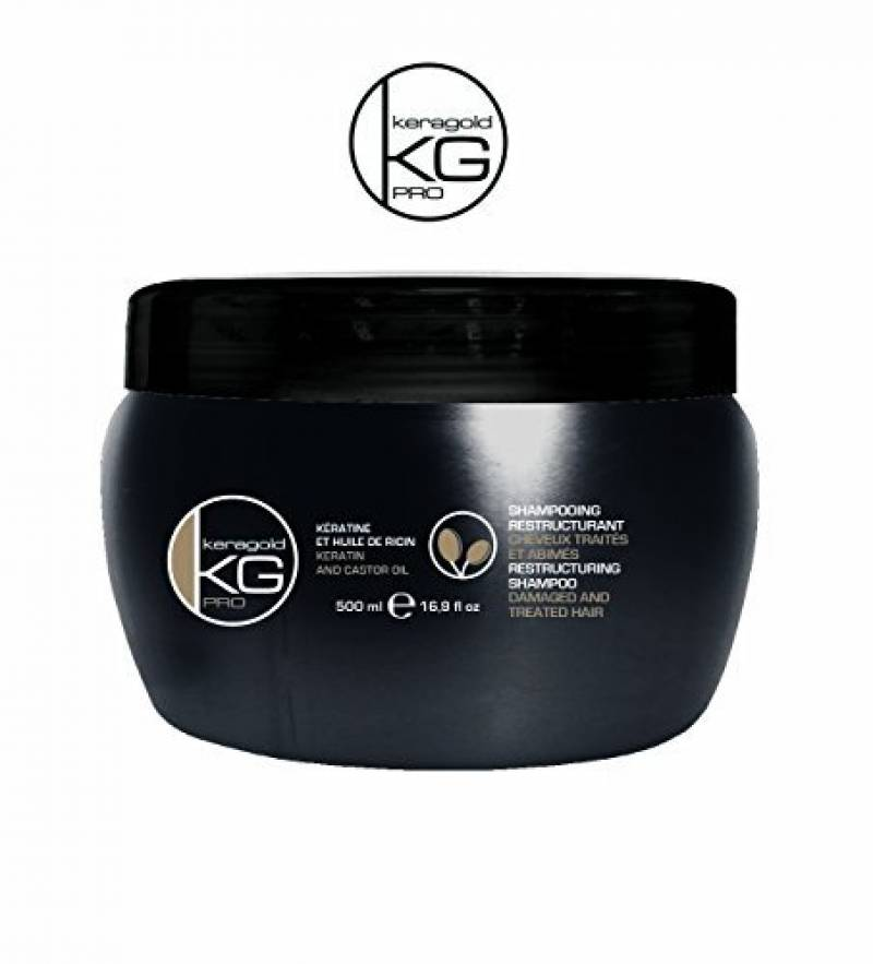 Masque sans sulfates restructurant à la KÉRATINE et HUILE DE RICIN - KERAGOLD Pro - CC kératine - 500ml de la marque keragoldpro TOP 2 image 0 produit