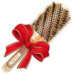 Meilleure brosse à cheveux ronde avec poils en sanglier naturels pour sèche-cheveux (5,3 cm) - Outil élégant de cheveux de qualité de salon profession pour Chev TOP 12 image 3 produit
