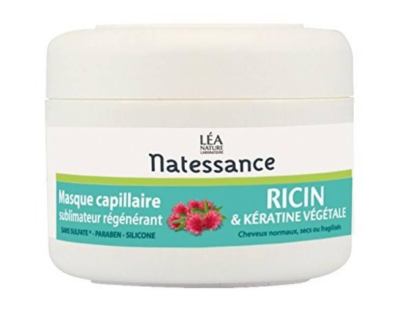 Natessance Capillaire Masque À L'huile de Ricin et Kératine Végétale 200 ml de la marque Natessance TOP 9 image 0 produit