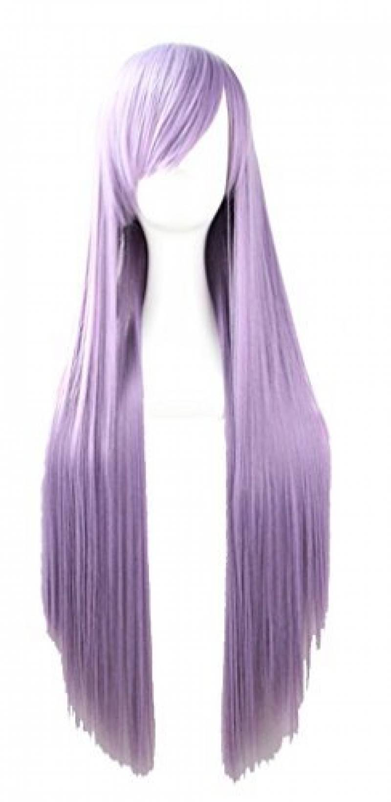 Quibine 80cm Longue Ligne Droite Perruque Cosplay Multicolore Perruques Smoky Violette de la marque Quibine TOP 8 image 0 produit
