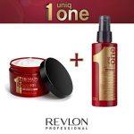 revlon - uniq one - masque : 300ml + spray : 150ml - Soin Capillaire pour Cheveux Secs et Abimés Tout en Un - gamme revlon professional de la marque Revlon Prof TOP 1 image 0 produit