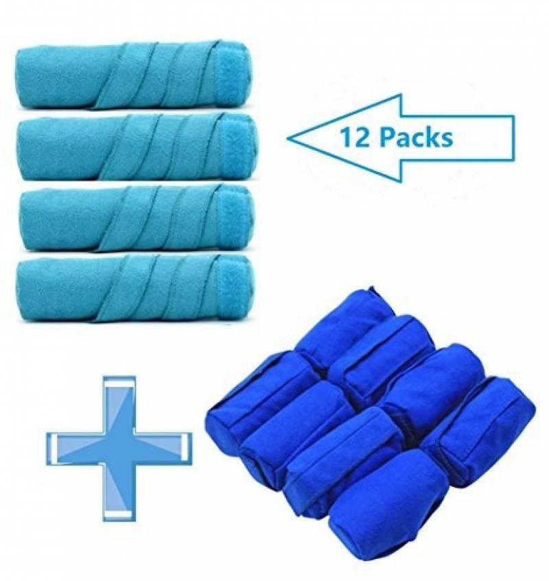 WPQES dormir le style bigoudi, 12 ordinateurs les bigoudis, éponge de rouleaux (bleu 4 L+ 8 M) de la marque WPQES TOP 1 image 0 produit