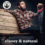 BEARDED BEN brosse à barbe avec des poils de sanglier et une boite de rangement de haute qualité pour un soin de la barbe professionnel ( brune, diamètre : 5 cm TOP 1 image 1 produit