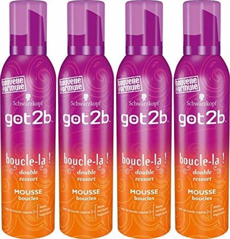 Got2B - Mousse Coiffante - Boucle La - Aérosol 250 ml -Lot de 4 de la marque GOT 2B TOP 3 image 0 produit