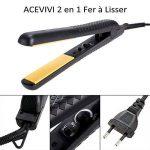 ACEVIVI Lisseur 2 en 1 Professionnel Fer à Lisser Inon Négatif Portable Voyage Noir de la marque ACEVIVI TOP 1 image 0 produit