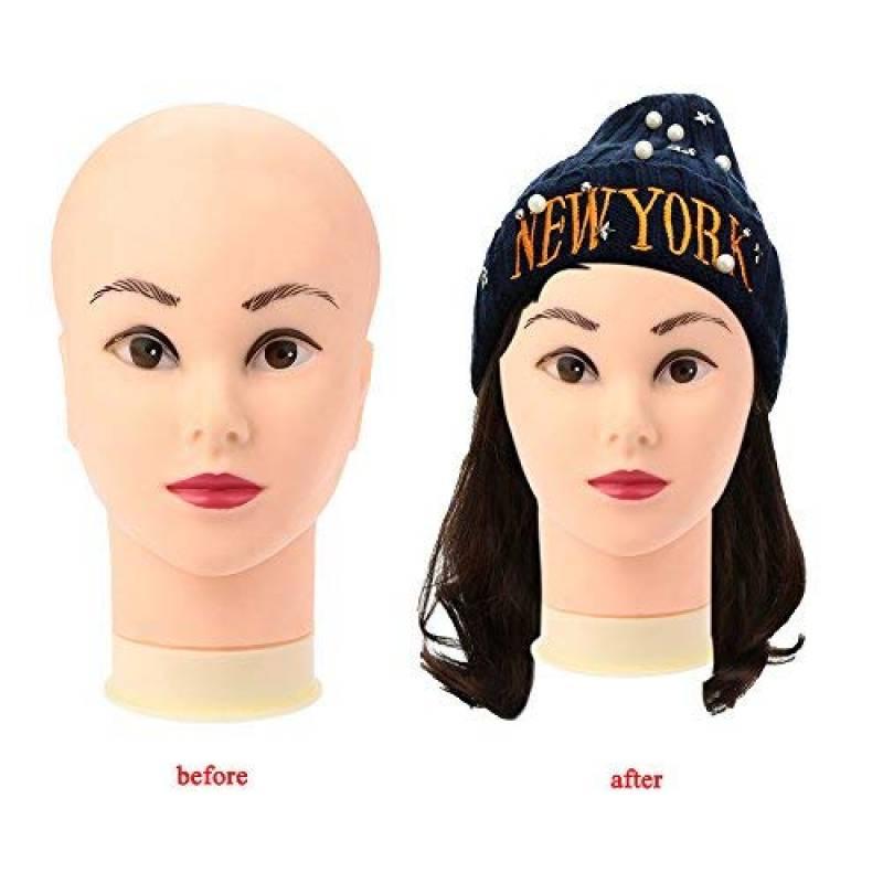 Anself Modèle de tête gel de silice pour perruque/chapeau cosmétologie Mannequin presentoir bijoux de la marque Anself TOP 5 image 0 produit
