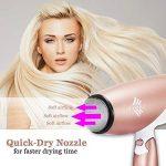 Bestope Sèche cheveux ionique de voyage pliable avec diffuseur ThermoProtect 1800W Or Rose/Blanc de la marque BESTOPE TOP 5 image 4 produit
