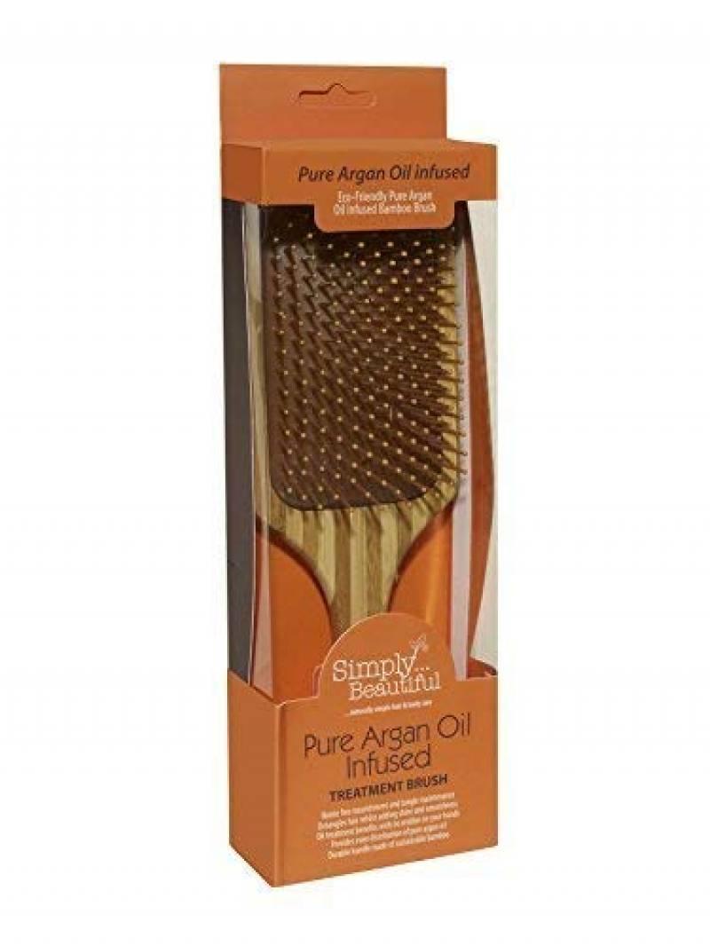 Brosse à Cheveux Pagaie en Bambou Infusée à l'Huile d'Argan Pure Tout Simplement Magnifique. Infusé à l'Huile d'Argan 100% pour Améliorer Éclat, TOP 1 image 0 produit