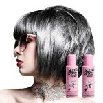 Crazy Color Coloration Pour Cheveux Semi-Permanente 100ml (Gris Platinum) - Pack de 2 de la marque Crazy Color TOP 1 image 0 produit