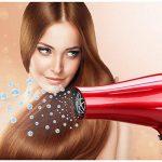 EZfull Seche Cheveux Diffuseur Ionique Pro Sèche Cheveux Professionnel Ion Leger Seche Cheveu de Voyage Puissant 1800W 220/240V Rouge de la marque EZfull TOP 4 image 1 produit