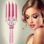 Fer à boucler Ondulation 3 tubes chauffants Bigoudis Curl Boucleur Fer à friser Ionique LCD Rose de la marque sumuya TOP 9 image 5 produit