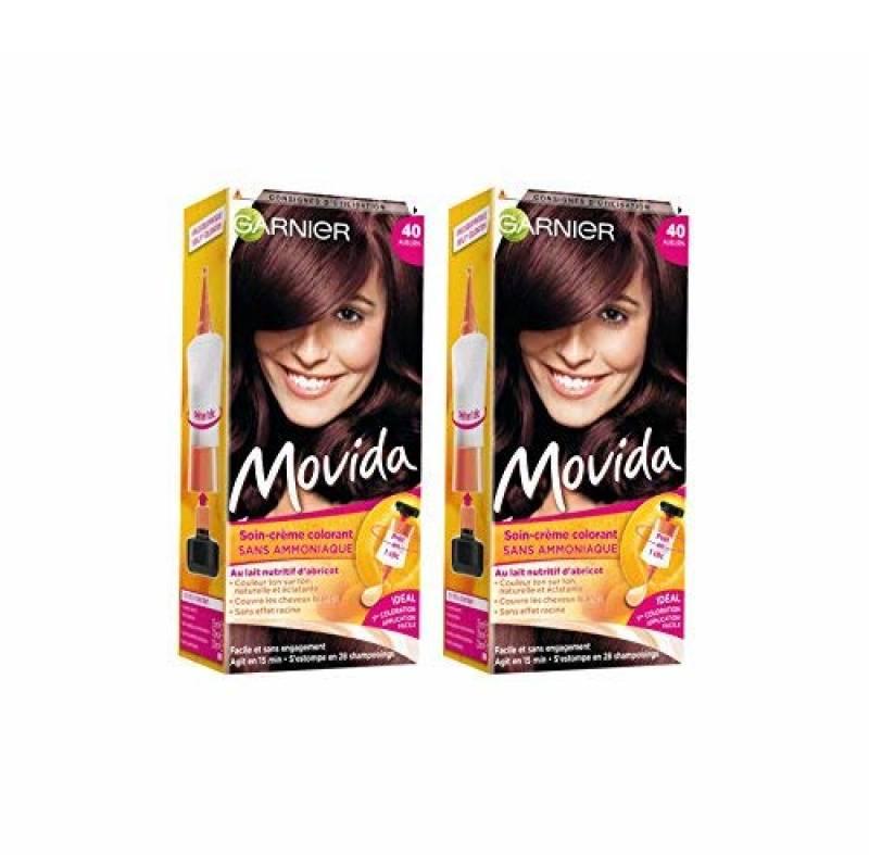 Garnier - Movida - Coloration temporaire sans ammoniaque Auburn - 40 Auburn Lot de 2 de la marque Garnier Movida TOP 5 image 0 produit