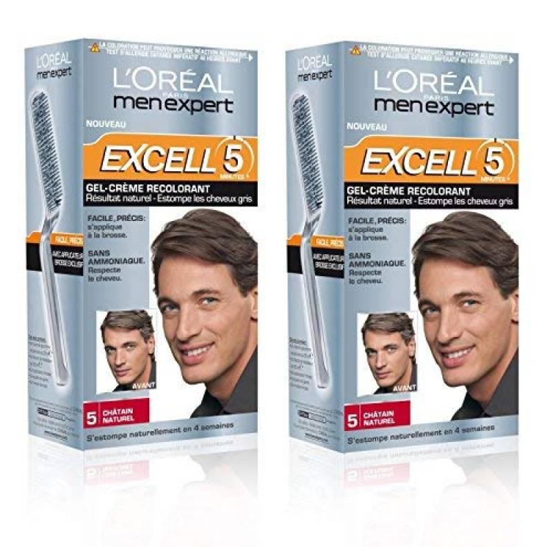 L'Oréal Men Expert Excell 5 Coloration Homme Sans Ammoniaque Châtain Naturel 5 - Lot de 2 de la marque L'Oréal Men Expert TOP 8 image 0 produit