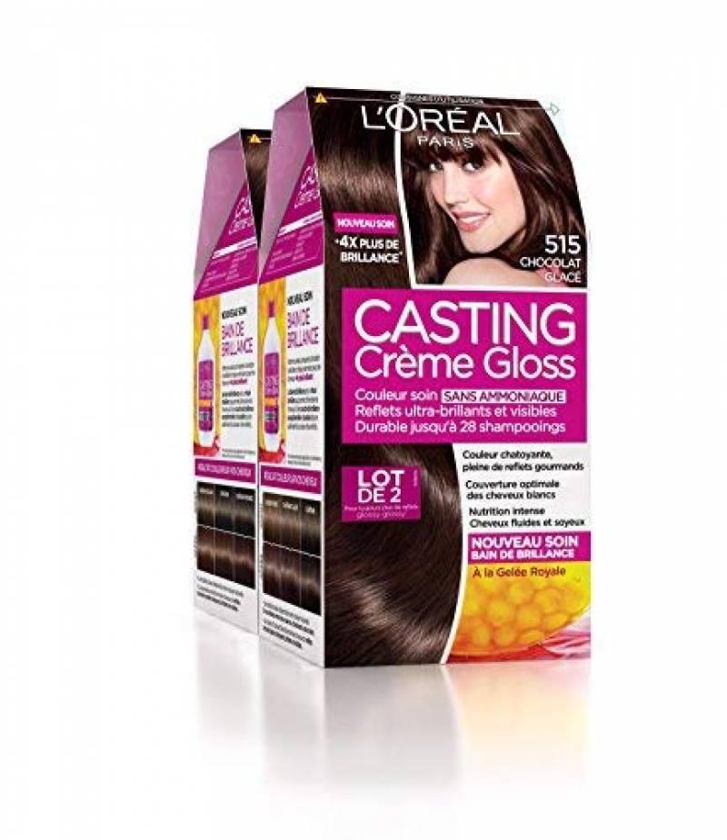 L'Oréal Paris Casting Crème Gloss Coloration Ton Sur Ton Sans Ammoniaque 5.15 Chocolat Glacé Lot de 2 de la marque Casting Crème Gloss TOP 6 image 0 produit